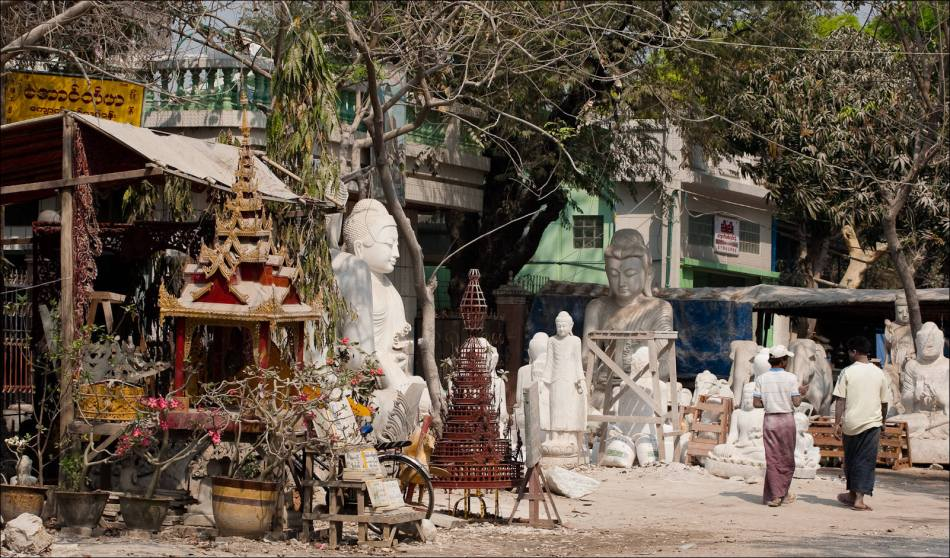Marble Carvers in Mandalay  Christopher Martin Photography