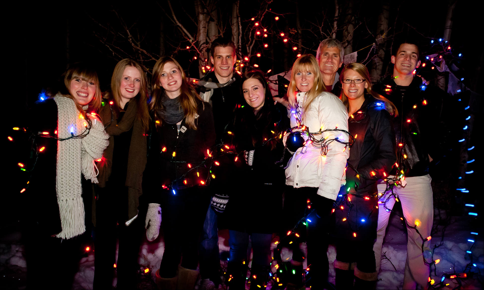 Family Christmas Picture Lights Christopher Martin Photography