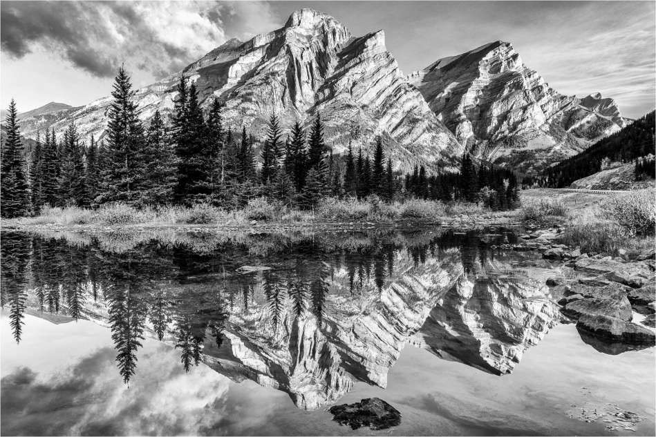 Mount Kidd Reflected