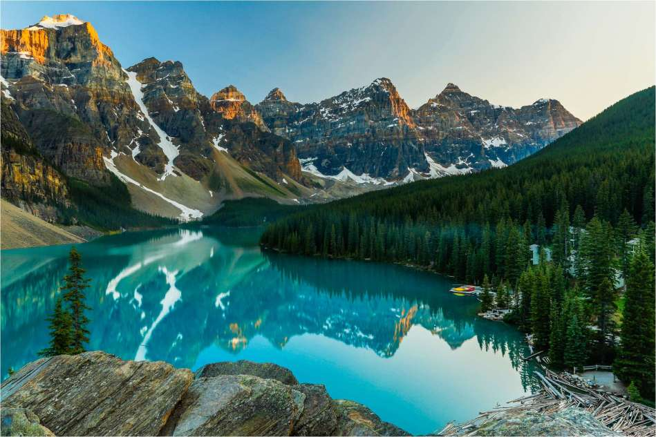 Moraine Lake on a quiet summer's evening - © Christopher Martin-4648