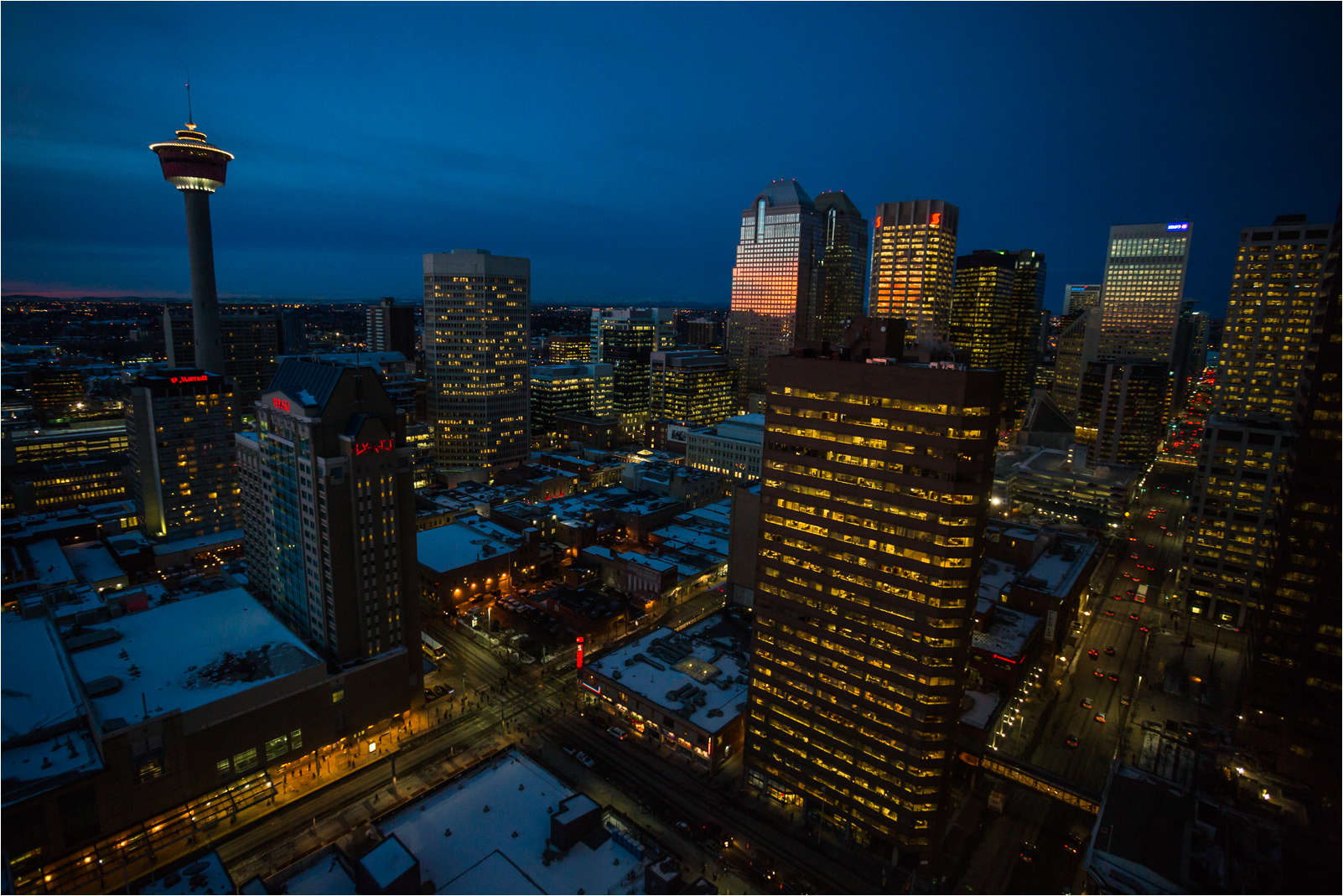 Calgary's cityscape at dawn - 2013 © Christopher Martin