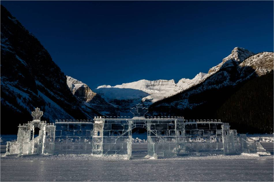 The ice castle at Lake Louise - 2013 © Christopher Martin