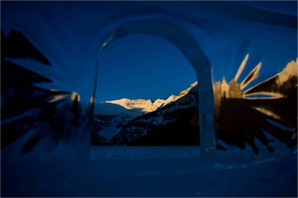 A window to first light on Victoria Glacier - 2013 © Christopher Martin