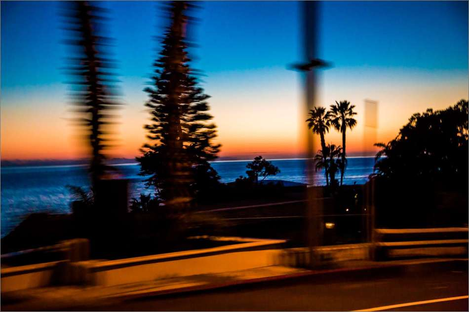 Driving by sunset in Laguna - 2013 © Christopher Martin