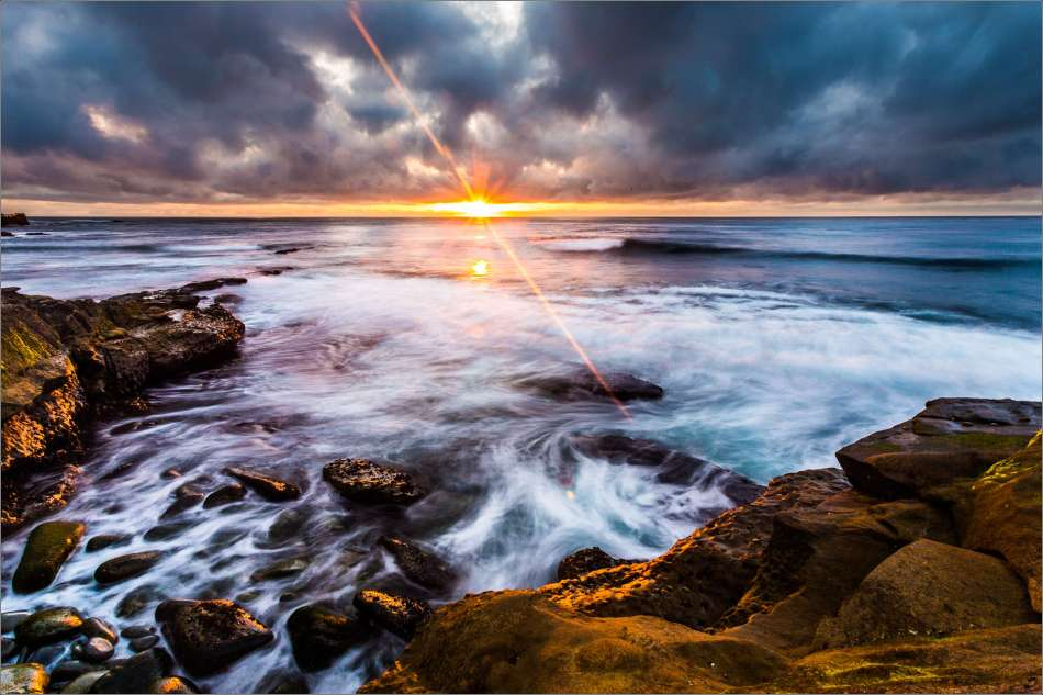 La Jolla coastline at sunset - 2013 © Christopher Martin