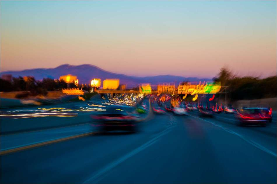 Dusk over toll road 73 - 2013 © Christopher Martin