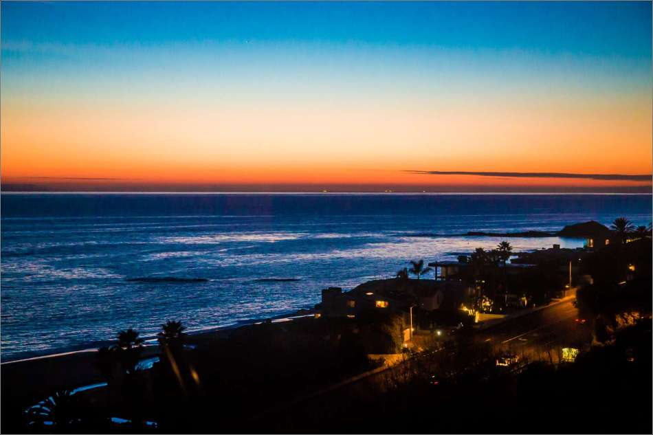 Over Aliso Beach and on to sunset - 2013 © Christopher Martin