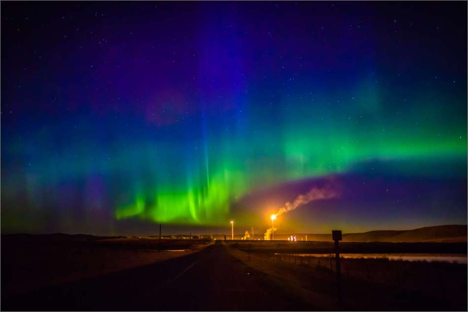 Aurora over flames - 2013 © Christopher Martin