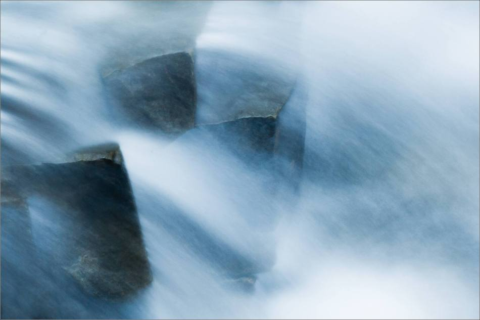 River rock abstraction - 2013 © Christopher Martin