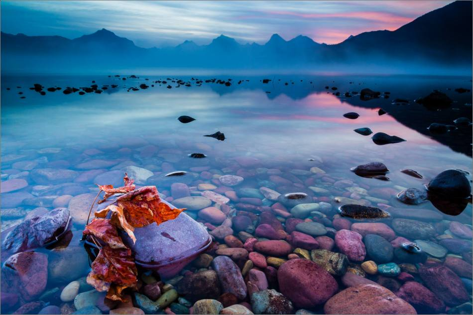Autumn sunrise on Lake McDonald - 2013 © Christopher Martin - 2358