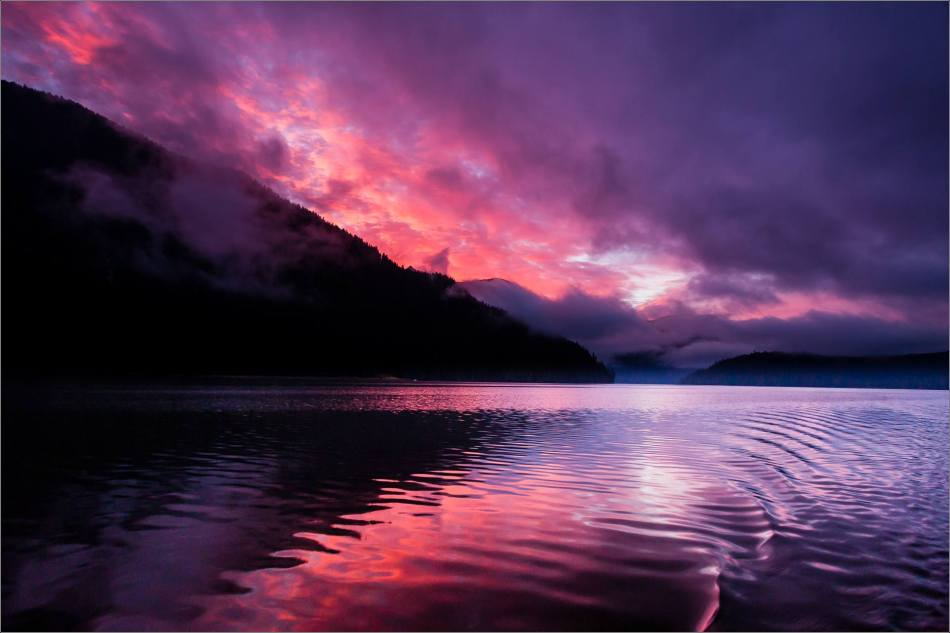 Dawn on the water in the Khutzeymateen Inlet - 2013 © Christopher Martin