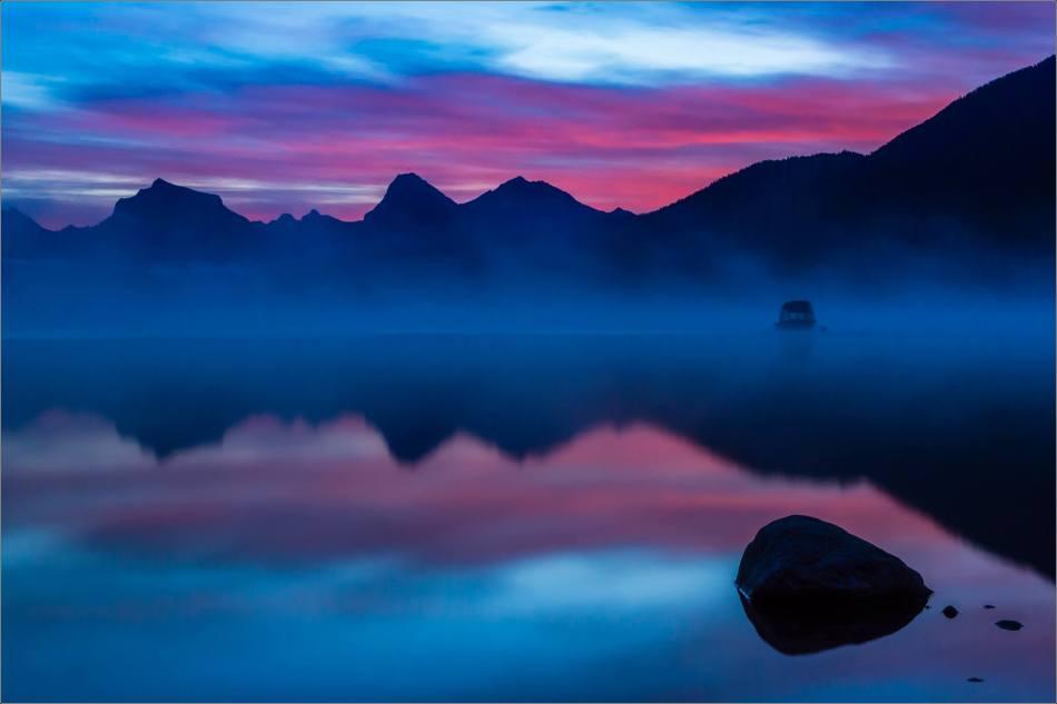Silhouettes on Lake McDonald - 2013 © Christopher Martin