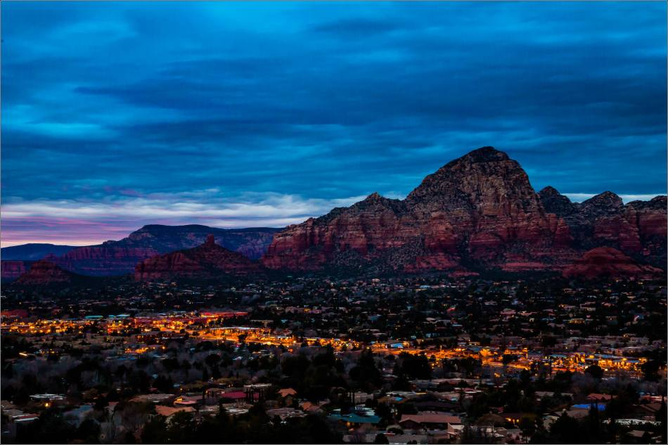 West Sedona at night - 2014 © Christopher Martin