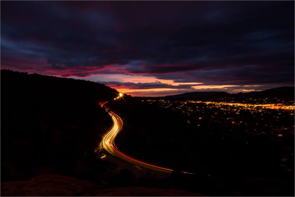 Light trails up to sunset - 2014 © Christopher Martin