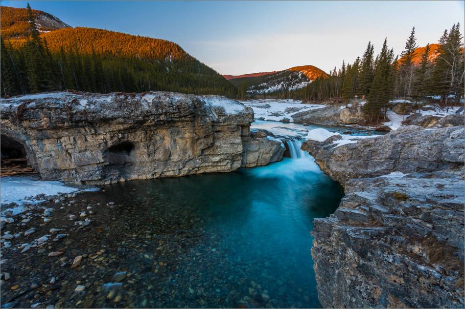 First light above Elbow Falls - 2014 © Christopher Martin