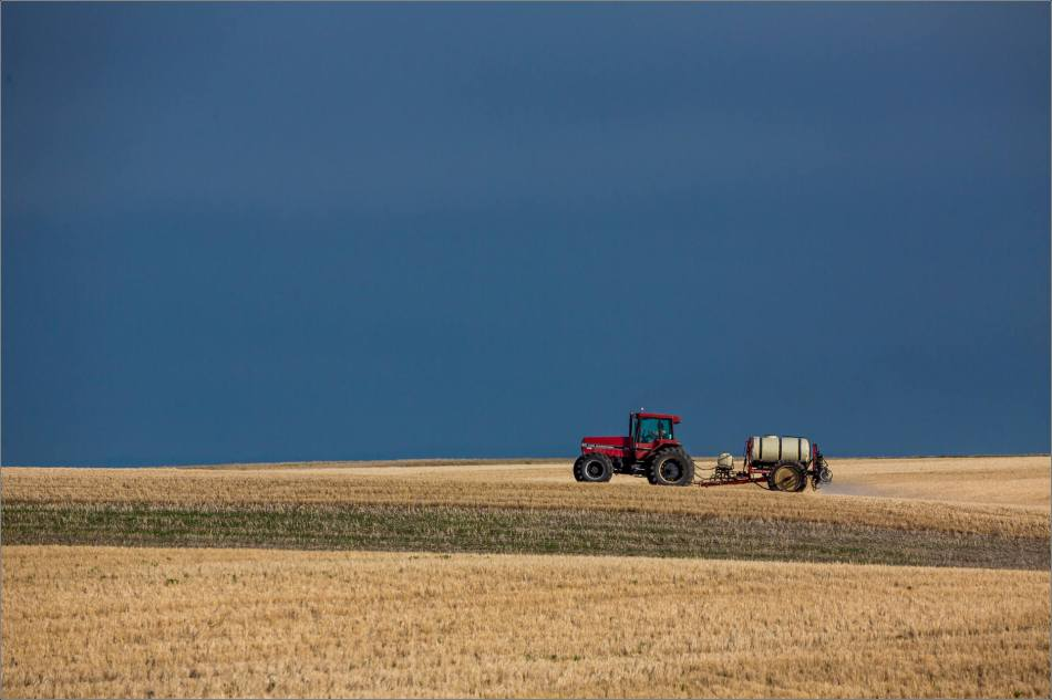 Tractor on the prairies - 2014 © Christopher Martin