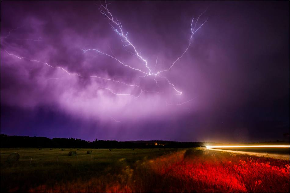 Lightning along the Cowboy Trail - 2014 © Christopher Martin