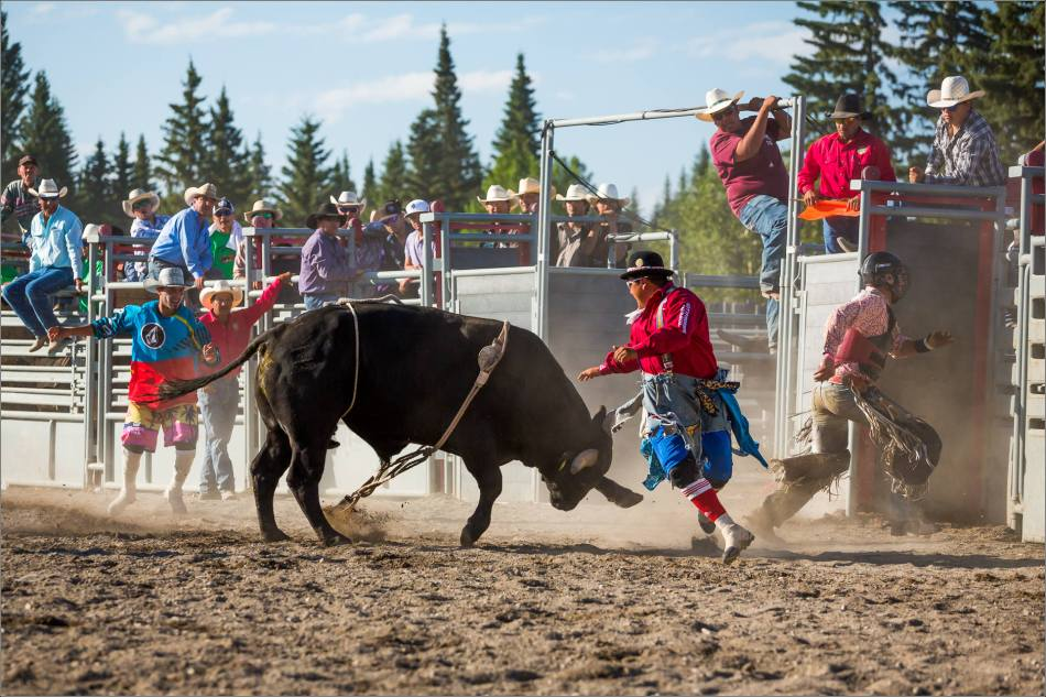 Rodeo clowns at work - 2014 © Christopher Martin