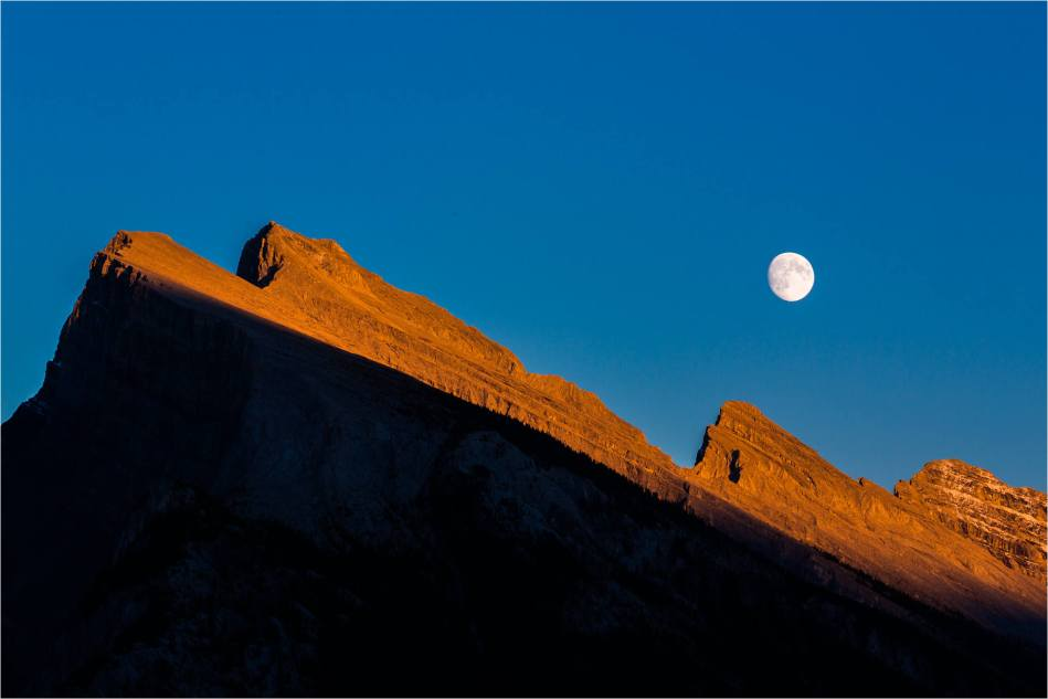 Moonrise over Rundle - © Christopher Martin-9579