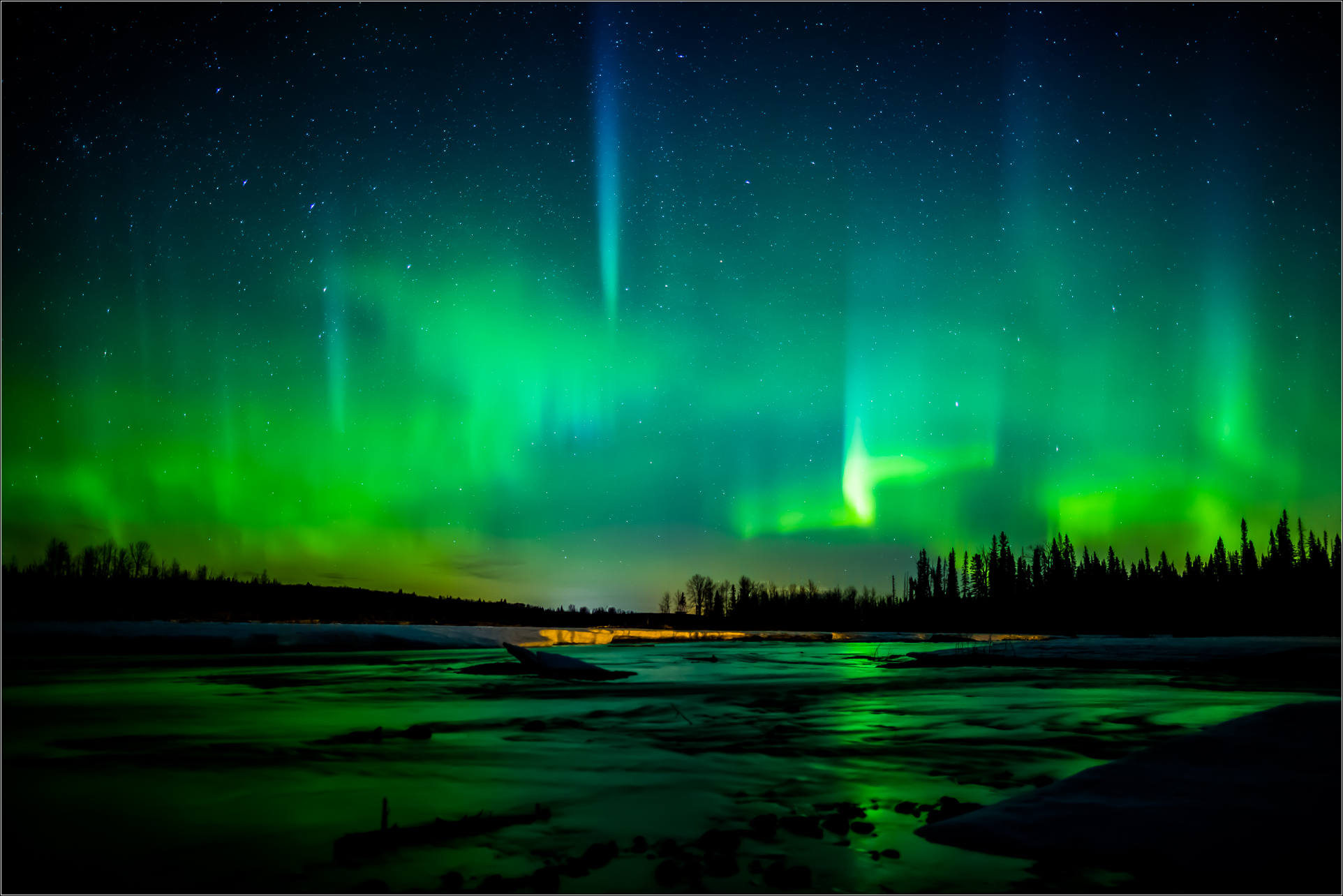 the northern lights over southern alberta christopher martin photography. Black Bedroom Furniture Sets. Home Design Ideas