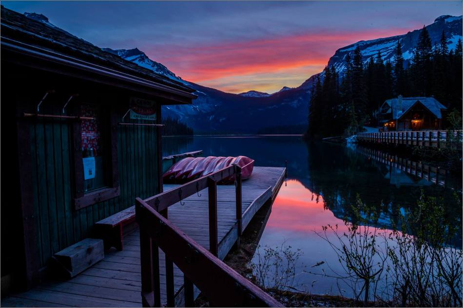 Sunrise reflected in Emerald Lake - © Christopher Martin-0140