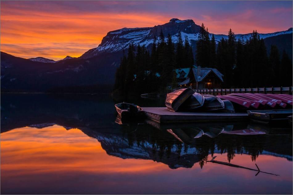 Sunrise reflected in Emerald Lake - © Christopher Martin-0162
