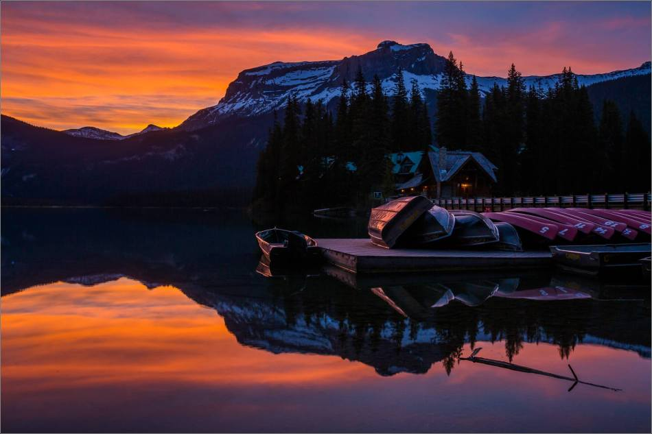 Sunrise reflected in Emerald Lake - © Christopher Martin-0162