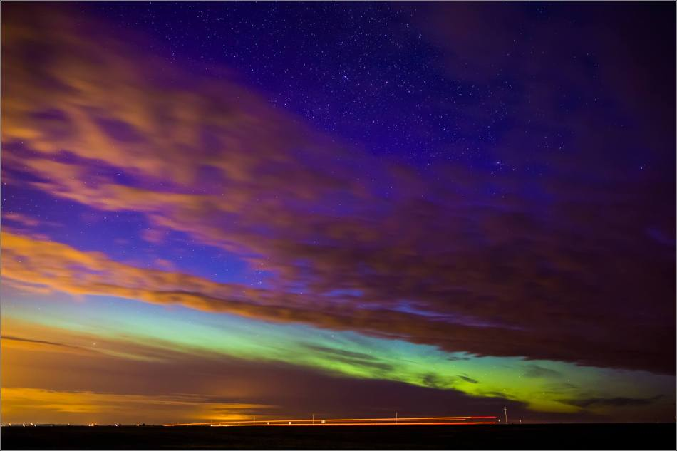 Aurora Borealis over Nanton  - © Christopher Martin-3745