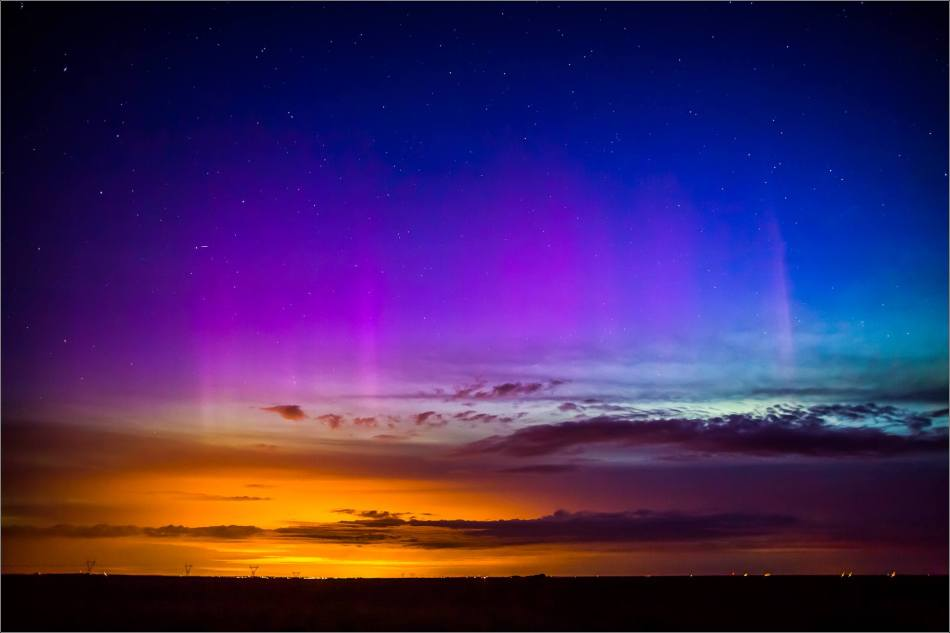 Aurora Borealis over Nanton  - © Christopher Martin-3923
