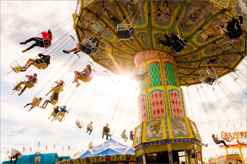 Swinging above the Stampede midway - © Christopher Martin-0152