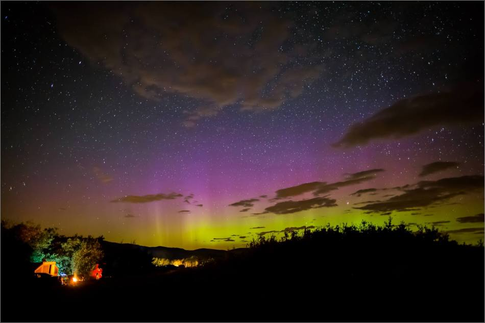 Aurora Borealis over Waterton Spring Campground - © Christopher Martin-4091