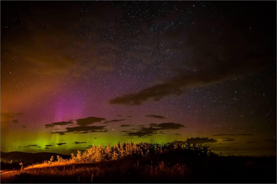 Aurora Borealis over Waterton Spring Campground - © Christopher Martin-4101