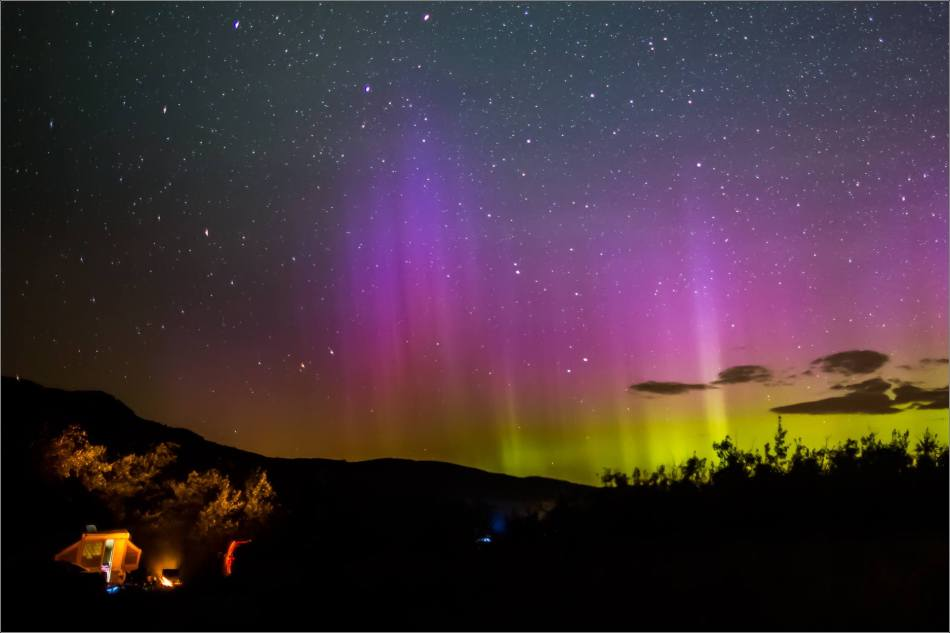 Aurora Borealis over Waterton Spring Campground - © Christopher Martin-4124