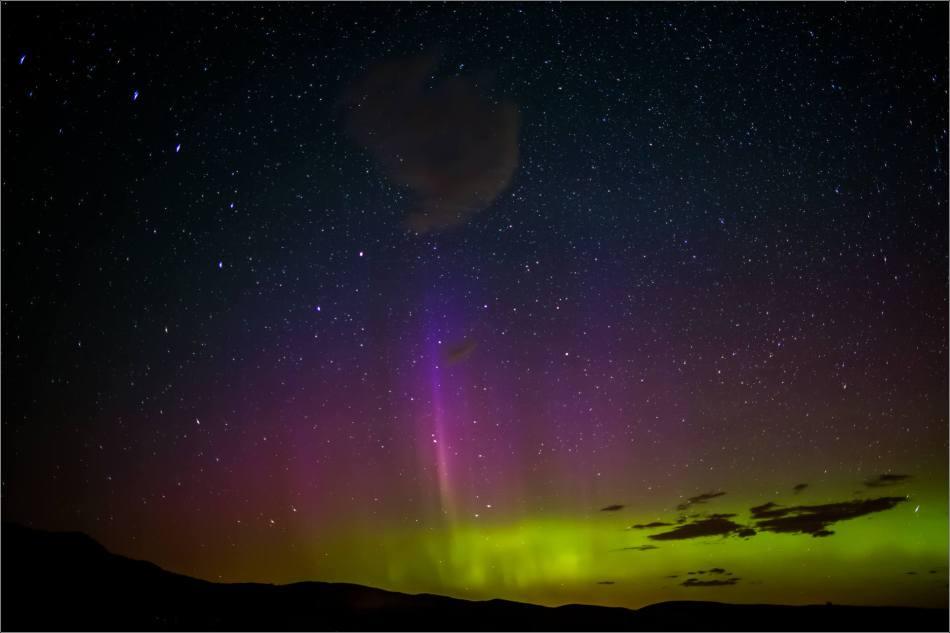 Aurora Borealis over Waterton Spring Campground - © Christopher Martin-4148