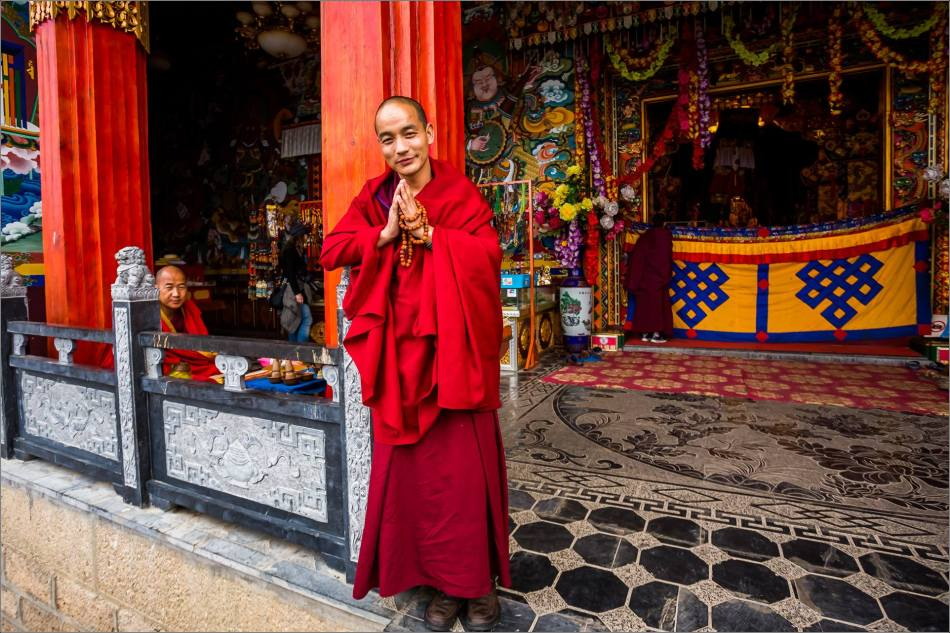 A friendly Songzanlin monk - © Christopher Martin-6116
