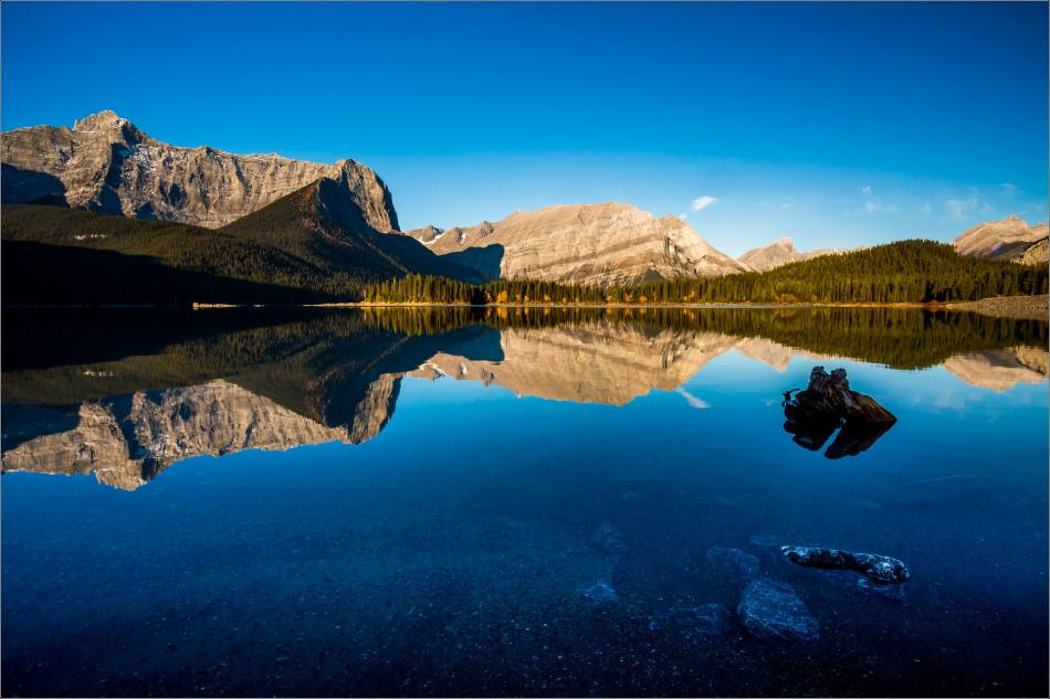 Morning reflected in Upper Kananaskis Lake - © Christopher Martin-0593