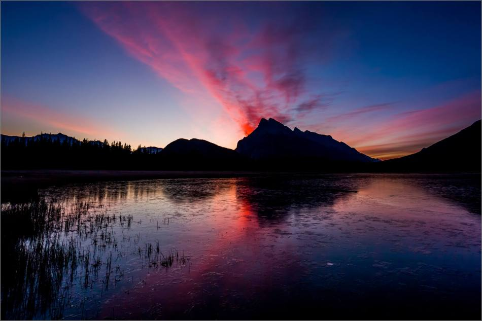 Vermilion Lakes Sunrise in the Banff National Park - © Christopher Martin-1801