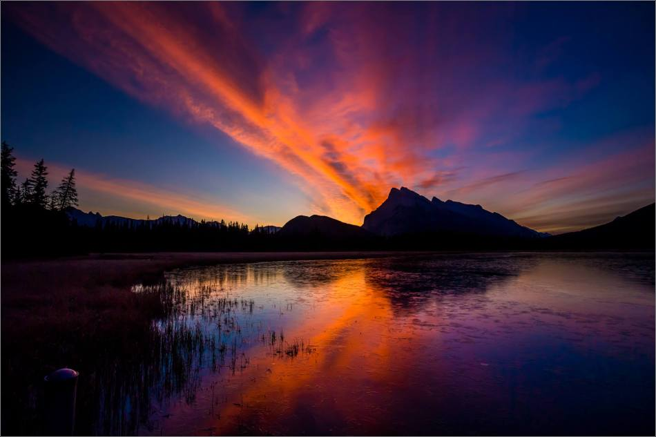 Vermilion Lakes Sunrise in the Banff National Park - © Christopher Martin-1831