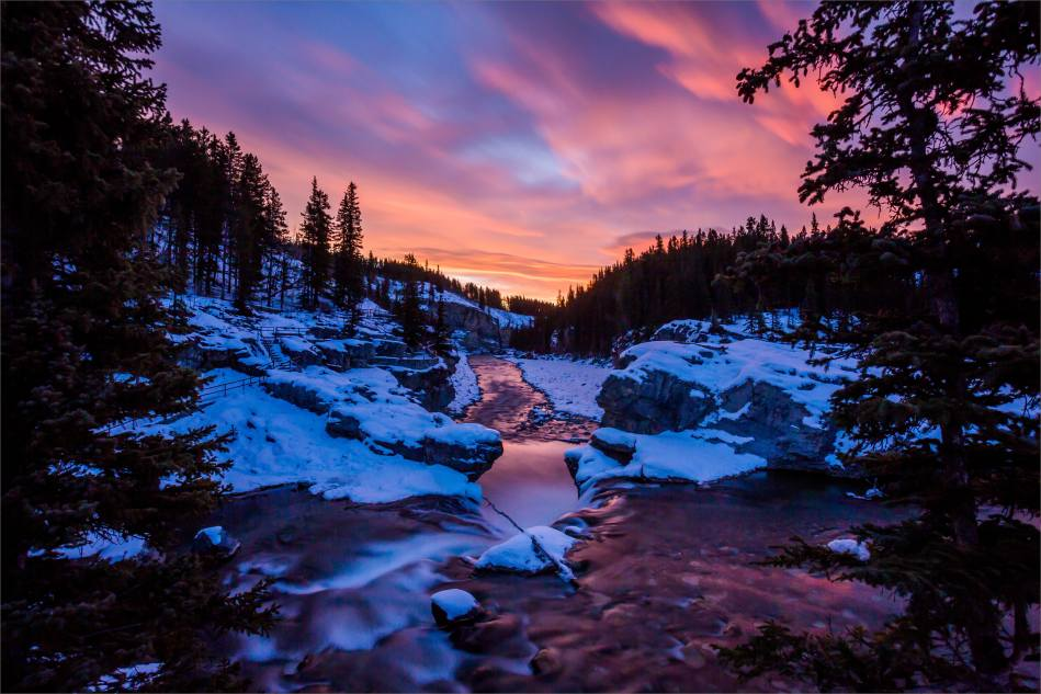 Winter sunrise at Elbow Falls - © Christopher Martin-4076