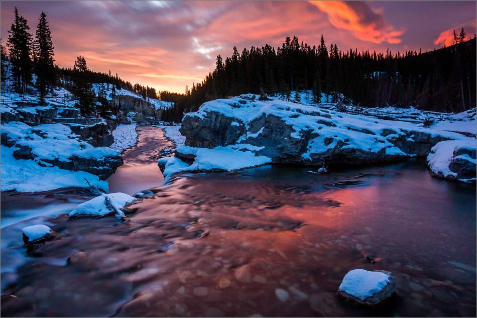 WINTER DAWN AT ELBOW FALLS - © Christopher Martin-4088