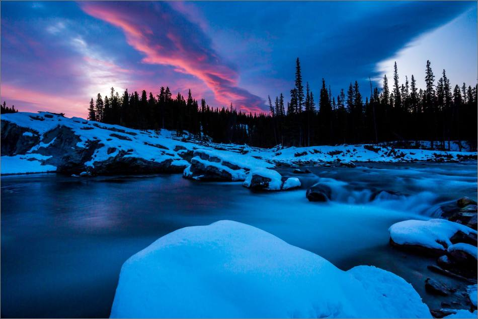 WINTER DAWN AT ELBOW FALLS - © Christopher Martin-4106