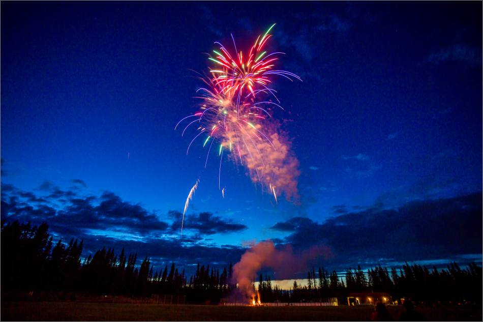 Fireworks in Redwood Meadows to celebrate Canada Day