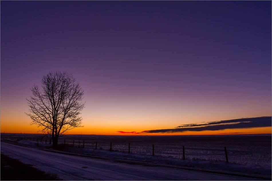 Prairie dawn - winter morning - © Christopher Martin-8977