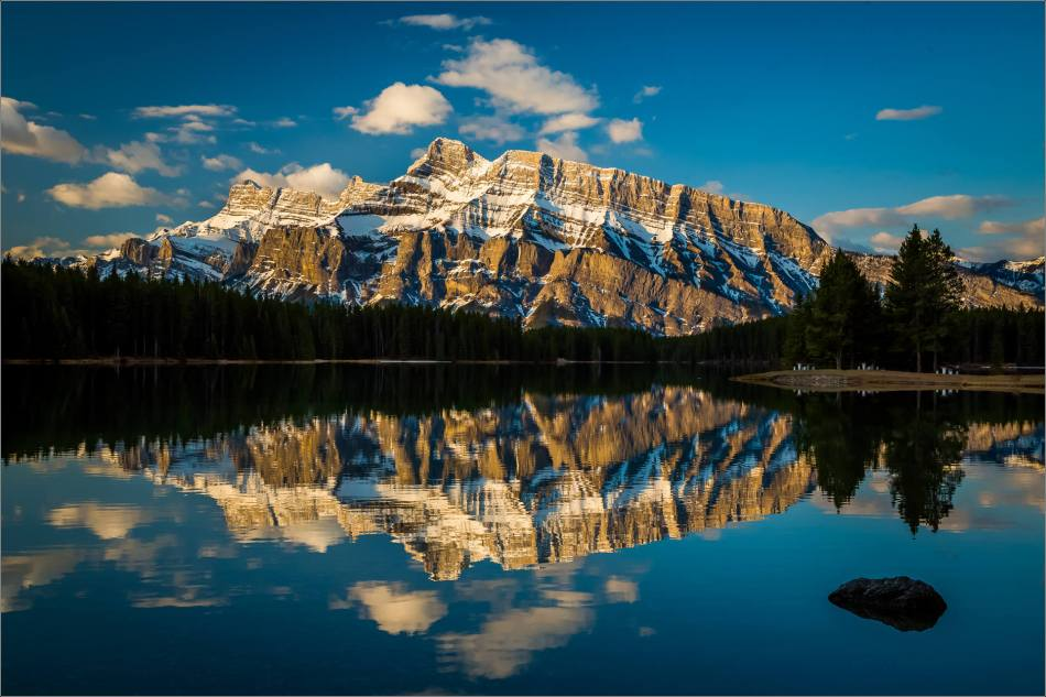 Mount Rundle reflected in Two Jack Lake - © Christopher Martin-0160-3