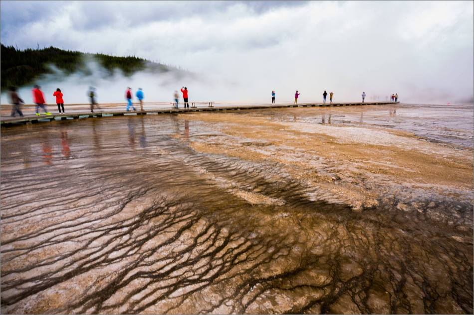 Grand Prismatic Spring - people in the mist - © Christopher Martin-8784