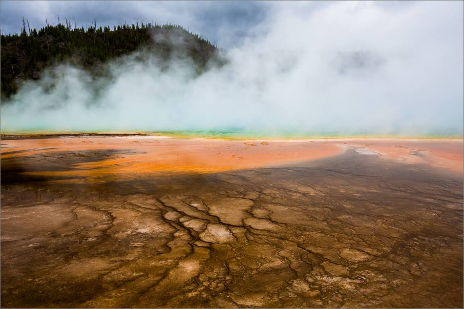 Grand Prismatic Spring - people in the mist - © Christopher Martin-8793