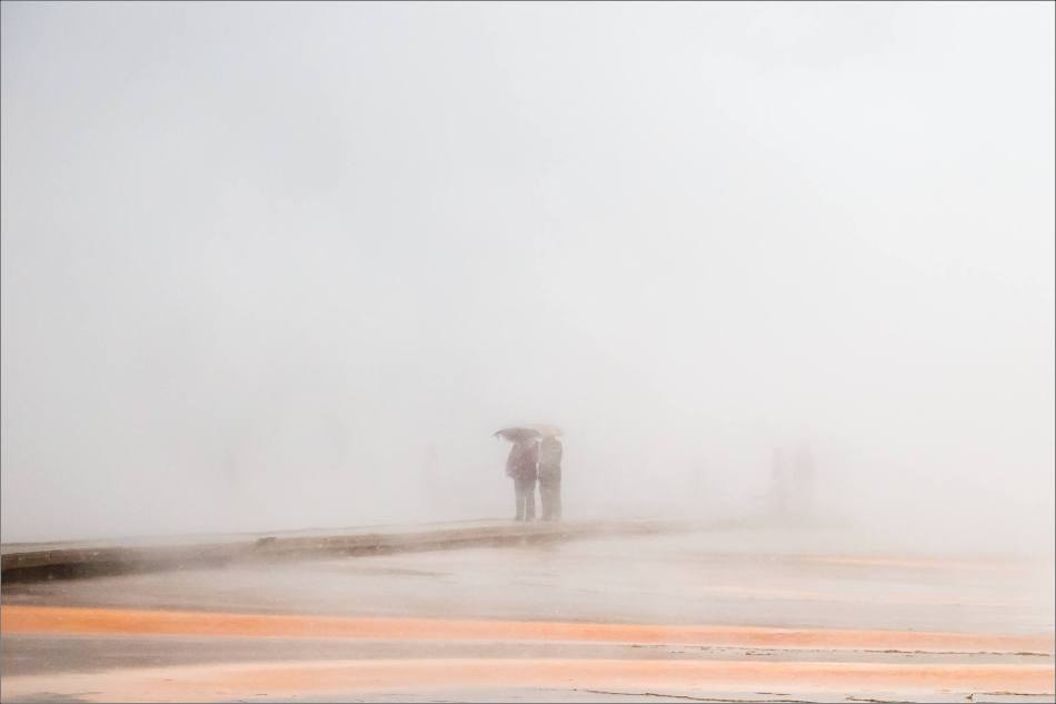 Grand Prismatic Spring - people in the mist - © Christopher Martin-8903