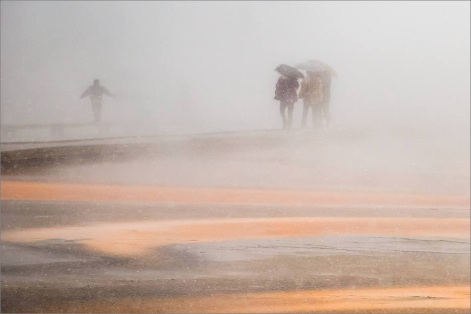 Grand Prismatic Spring - people in the mist - © Christopher Martin-8908