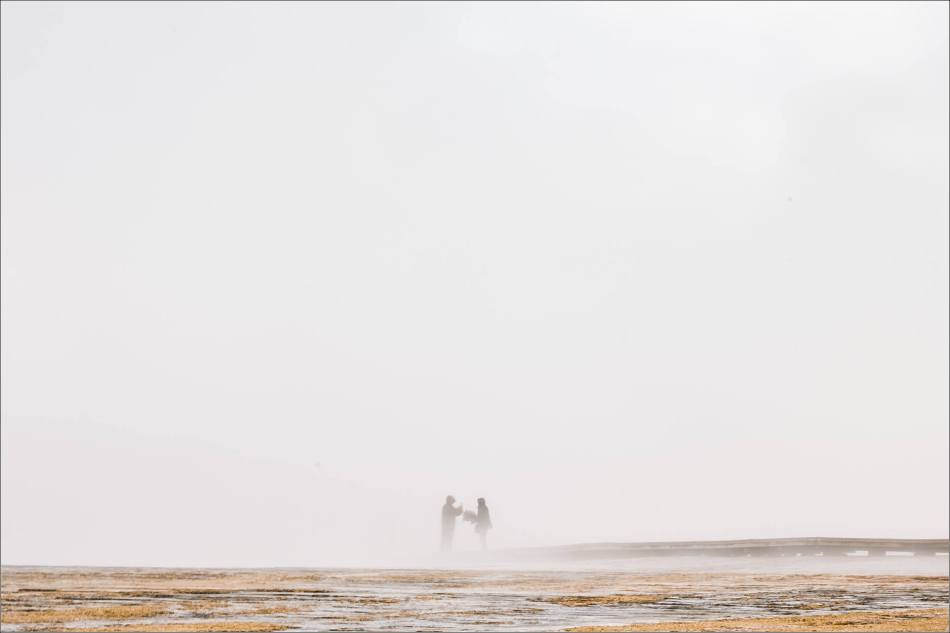 Grand Prismatic Spring - people in the mist - © Christopher Martin-8957