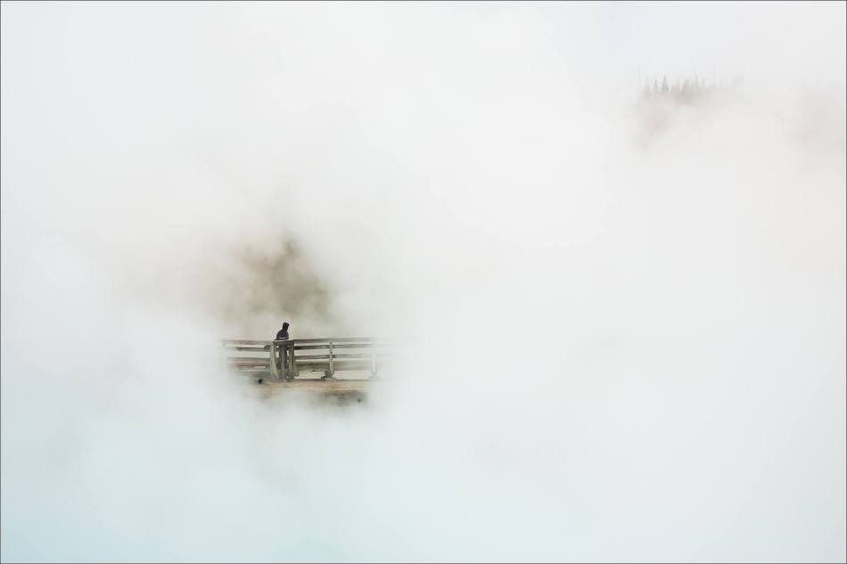 Grand Prismatic Spring - people in the mist - © Christopher Martin-9020
